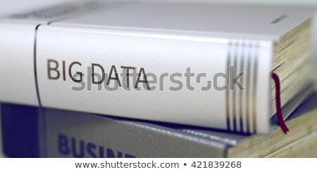 Adat biztonsági mentés cím könyv kék fekete Stock fotó © tashatuvango