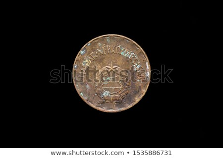 Two hungarian coins on a Black Background. Stock photo © tashatuvango