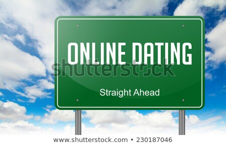 Сток-фото: E Dating On Highway Signpost