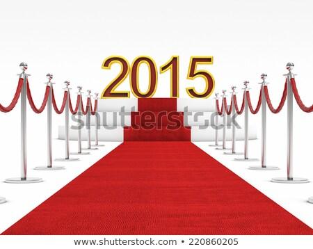 red carpet with number 2015 stock photo © stevanovicigor