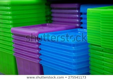 Plastica imbuto gruppo industriali colore Foto d'archivio © dezign56