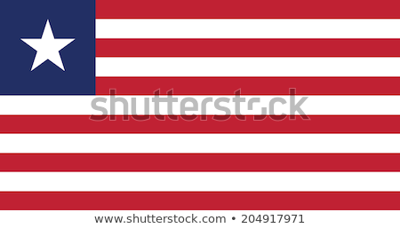 Bandeira Libéria pólo vento branco Foto stock © creisinger