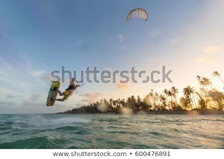 波 · ビーチ · 男 · 太陽 · スポーツ - ストックフォト © Aitormmfoto