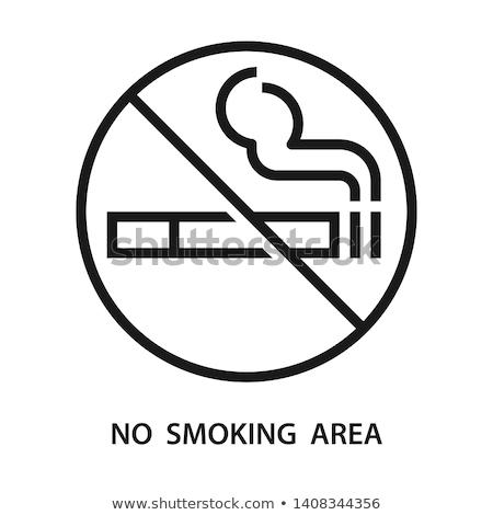 palenia · papierosów · ikona · wektora · drewna - zdjęcia stock © glorcza