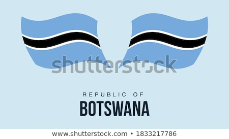 map on flag button of republic of botswana stock photo © istanbul2009