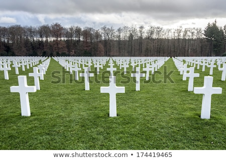Luxembourg cimetière guerre bataille herbe Photo stock © smartin69