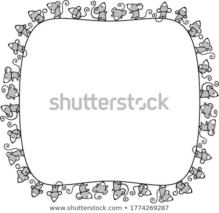 Mouse frame formaggio grigio colore vettore Foto d'archivio © aliaksandra