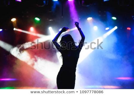 Taniec dziewczyna sylwetki wektora dziewcząt odizolowany Zdjęcia stock © illustrart