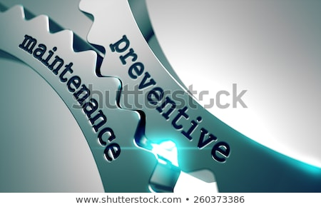 Preventive Maintenance  on Metal Gears. Stock photo © tashatuvango
