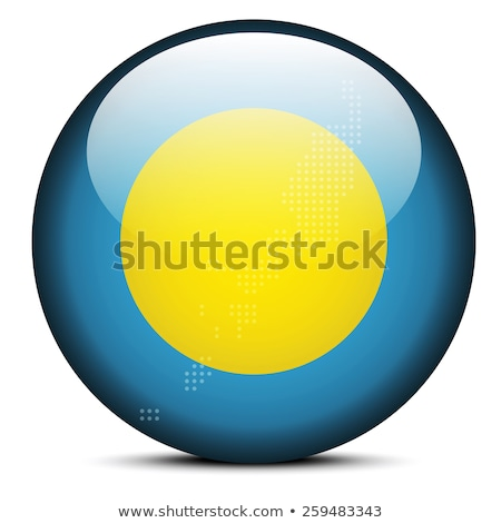 Map with Dot Pattern on flag button of Republic  Palau Stock photo © Istanbul2009