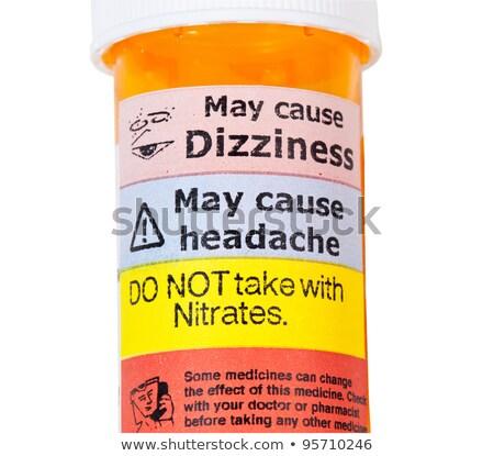 Foto stock: Prescripción · lado · efectos · medicina · médicos