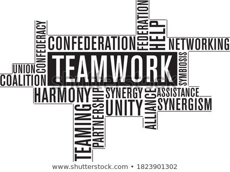 Teamwork typography Stock photo © joseph_arce