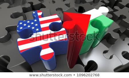 USA and State of Palestine Flags in puzzle Stock photo © Istanbul2009