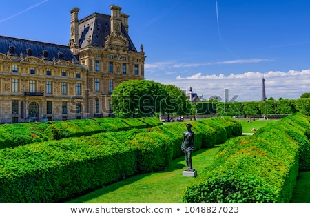 panjurlu · pencere · müze · Paris · 16 · manzara · piramit - stok fotoğraf © andreykr