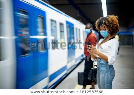 Kék busz utasok edző sáv nap Stock fotó © tainasohlman