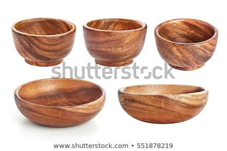 Empty wooden bowl Stock photo © grafvision