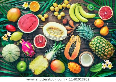 Cut orange and kiwi fruit Stock photo © vtls