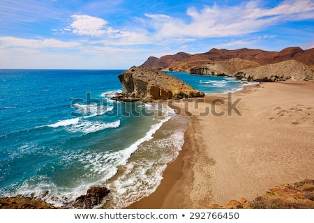 almeria playa del monsul beach at cabo de gata stock photo © lunamarina