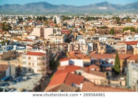 északi légifelvétel hatás Ciprus város utca Stock fotó © Kirill_M