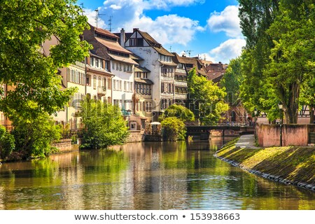 Strasbourg, water canal in Petite France area Stock photo © master1305