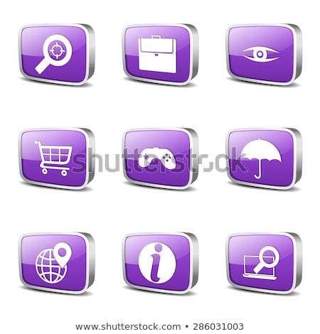 SEO Internet Sign Square Vector Violet Icon Design Set 10 Stock photo © rizwanali3d