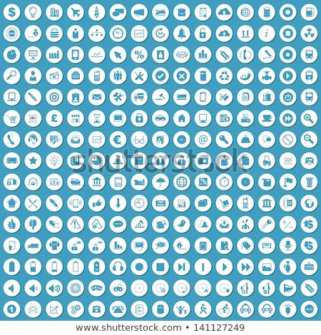Kantoorwerk Blauw vector knop icon ontwerp Stockfoto © rizwanali3d