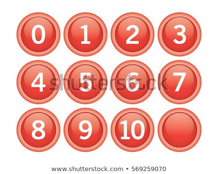 sayılar · kırmızı · vektör · dizayn · ayarlamak · Internet - stok fotoğraf © rizwanali3d