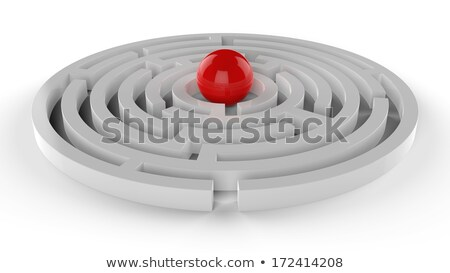 red sphere in the center of the maze stock photo © kirill_m