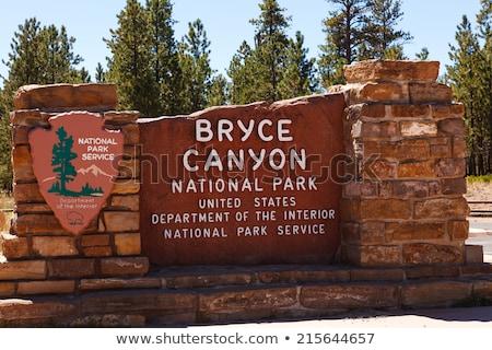 Bryce canyon National Park entrance Stock photo © ldambies