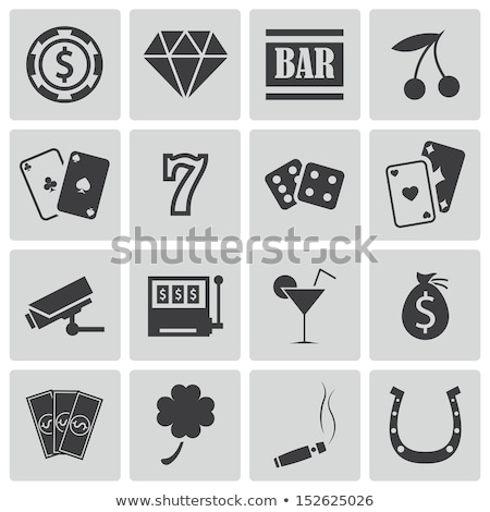 Dollárjel játszik kártya illusztráció fehér terv Stock fotó © get4net