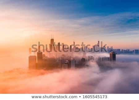 Чикаго · закат · мнение · центра · США · высокий - Сток-фото © AchimHB