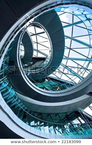 Escalator escalier architecture moderne intérieur modernes concrètes Photo stock © stevanovicigor
