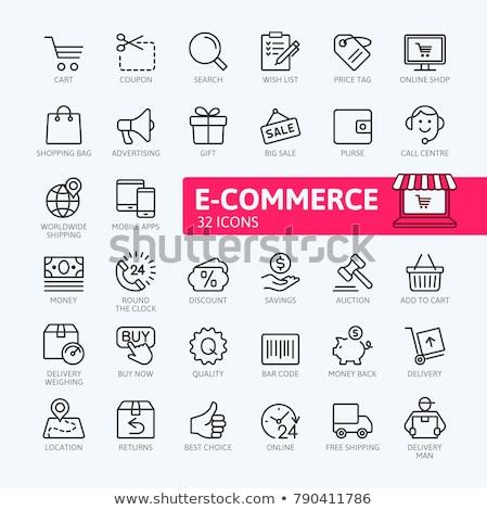 автомобилей · Корзина · иллюстрация · бизнеса · торговых · красный - Сток-фото © rastudio