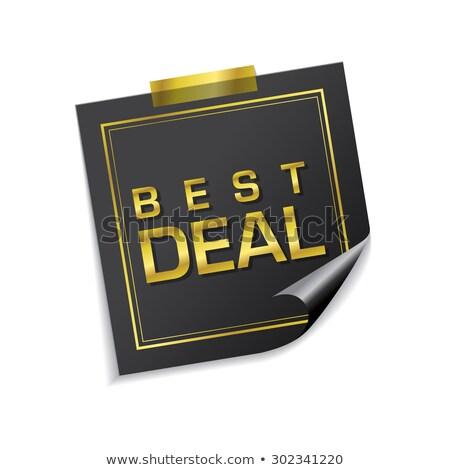 En iyi anlaşma altın vektör ikon Stok fotoğraf © rizwanali3d