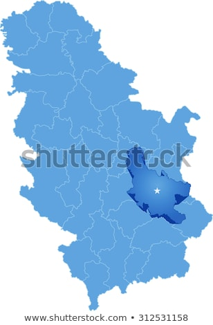 map of serbia subdivision nisava district stock photo © istanbul2009