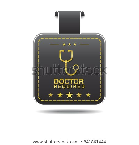 Doctor Required golden Vector Icon Design Stock photo © rizwanali3d