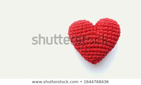 colorful textile hearts isolated on white background stock photo © tetkoren