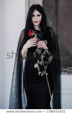 Atraente gótico menina estilo roupa Foto stock © Elisanth