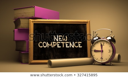 New Competence - Chalkboard with Hand Drawn Text. Stock photo © tashatuvango