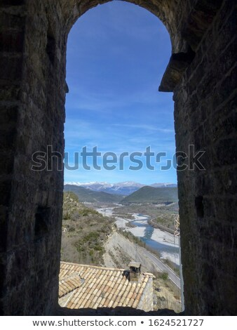 tijolo · arco · antigo · alvenaria · stonewall · Espanha - foto stock © lunamarina