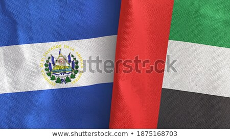 United Arab Emirates and El Salvador Flags Stock photo © Istanbul2009