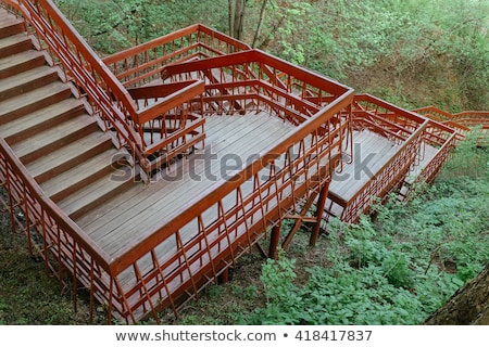 Taş merdiven dağlar açık merdiven moren Stok fotoğraf © dnsphotography