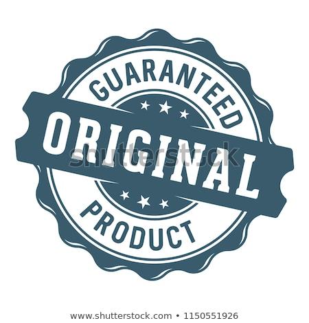 Genuine Product Blue Vector Icon Button Stock photo © rizwanali3d