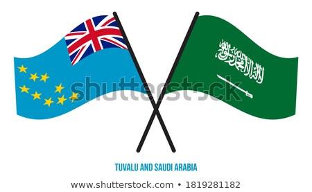 Suudi Arabistan Tuvalu bayraklar bilmece yalıtılmış beyaz Stok fotoğraf © Istanbul2009