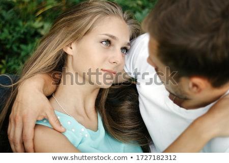 девушки · Ложь · парень · сидят · трава · семьи - Сток-фото © Paha_L