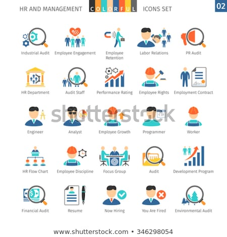 Human Resources Flat Set 02 Stock photo © Genestro