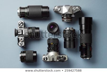Vecchio fotocamera teleobiettivo tecnologia nero bianco Foto d'archivio © Paha_L
