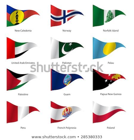 Объединенные Арабские Эмираты новых флагами головоломки изолированный белый Сток-фото © Istanbul2009