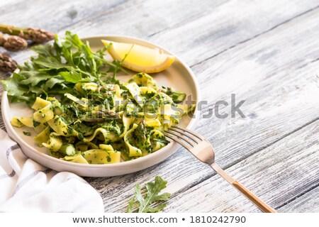 Spinach ribbon pasta  Stock photo © Digifoodstock