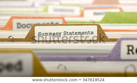 summary statements   folder name in directory stock photo © tashatuvango